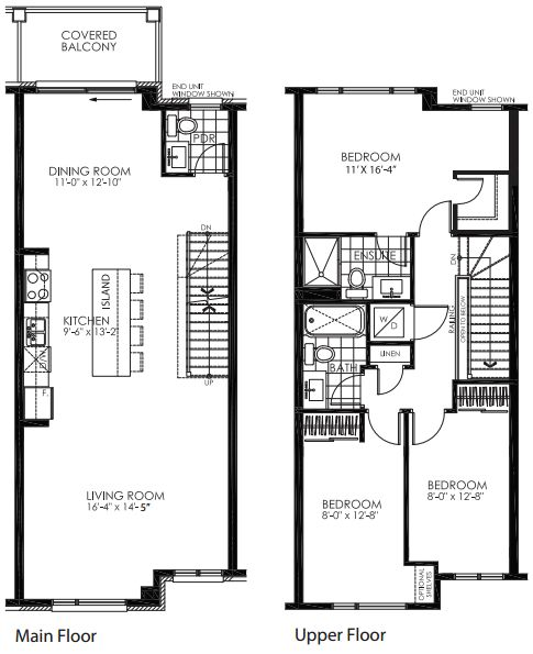 Style ing w children new home urban townhome floor for Urban townhouse floor plans
