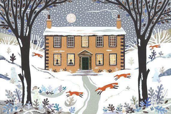 Bronte-Schwestern  Weihnachten  Christmas Card  von AmandaWhiteArt
