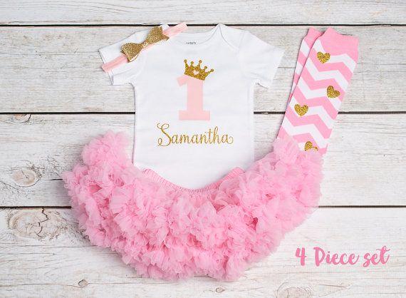 1. Geburtstag Mädchen Outfit Ersten Von Littlepeanutcouture Auf Etsy