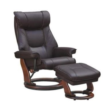 Senator II' Swivel Recliner With Storage Ottoman