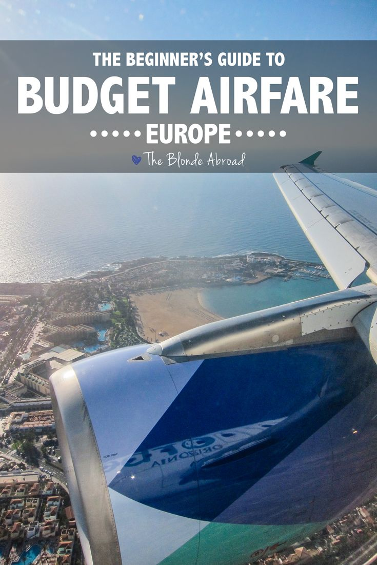 Budget Airfare in Europe