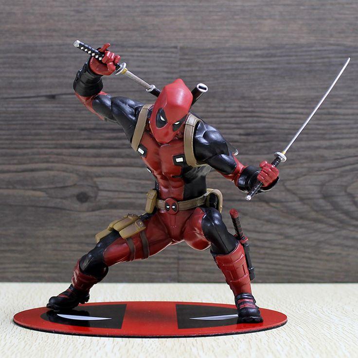 Deadpool Rakam Wade Wilson ARTFX + X ERKEKLER X-MEN Silah X SIVIL SAVAŞ Demir Adam Wolverine PVC Action Figure Modeli Koleksiyonu Oyuncak Hediye
