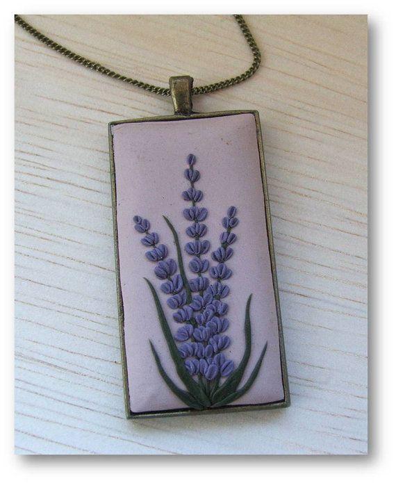 LavenderJewelry Lavender Polymer Clay Jewelry by Floraljewel