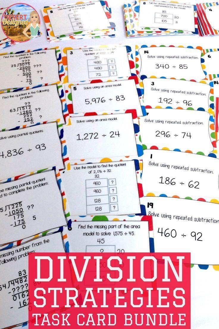 Division Strategies Task Card Bundle
