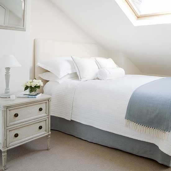Creating the illusion of space with a neutral colour scheme #bedroom #attic