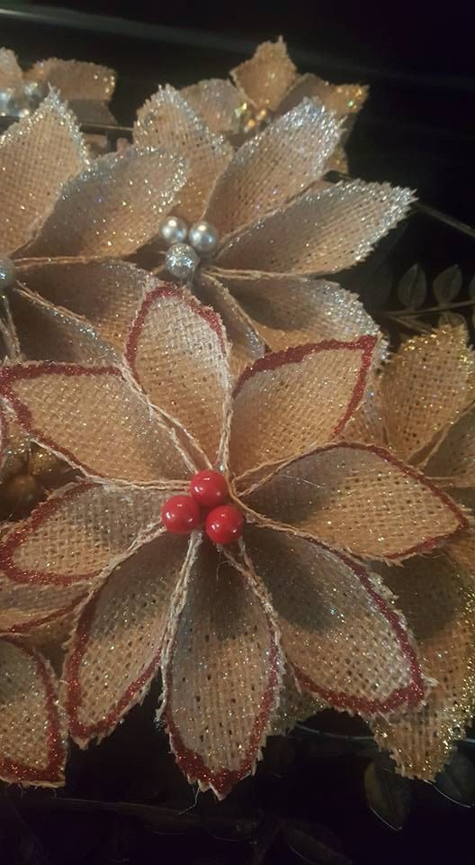Ornamenti rustici fatti a mano della tela di ChristinesCraftySide