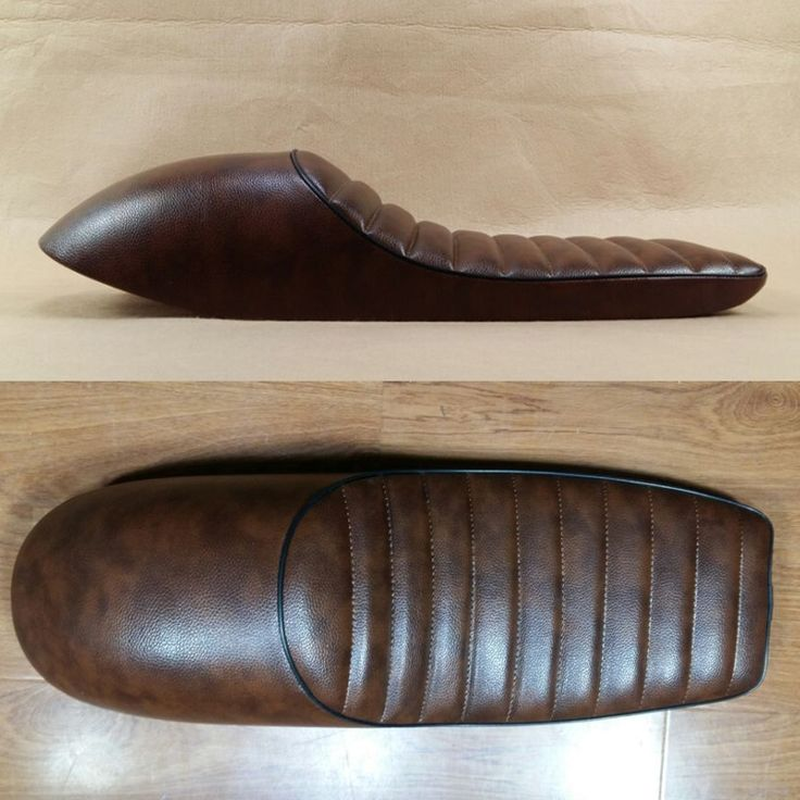 79.19$ Buy here - http://aliqqs.worldwells.pw/go.php?t=32706921464 - 2016 brown SADDLE Retro Locomotive Refit Motorcycle Seat Leather Waterproof Hump CAFE RACER SEAT Motorcycle Seat