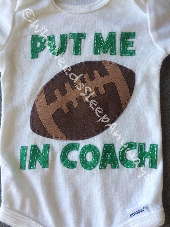 Fun Put Me In Coach Football Onesie by WhoNeedsSleepAnyways