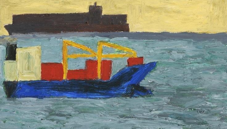 Busy Morning, Sorrento, 2007  Artist: Julian Twigg  Medium: Oil on board  Dimensions: 19 x 33 cm