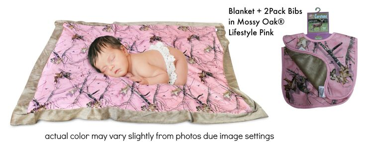 Pink Camo Blanket & Bib Mossy Oak Pink Carstens Faux Suede Baby Girl B – Camo Chique