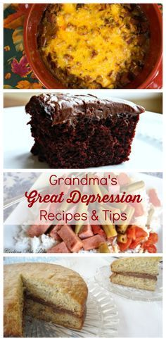 Great Depression Cooking Tips from Grandma: 10 Easy Cheap Recipes | Love these easy cooking tips and how tos. Plus, the recipes (like the crazy cake) are so good!