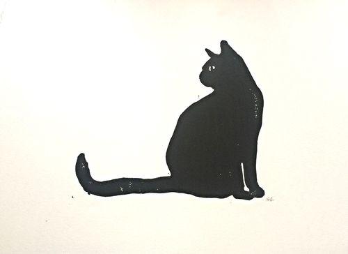 lino cut cats - Google Search                                                                                                                                                      More