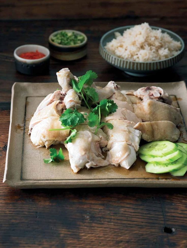 Hainanese Chicken Rice | adamliaw.com - easy way to cook the chicken, no rinse in cold water required
