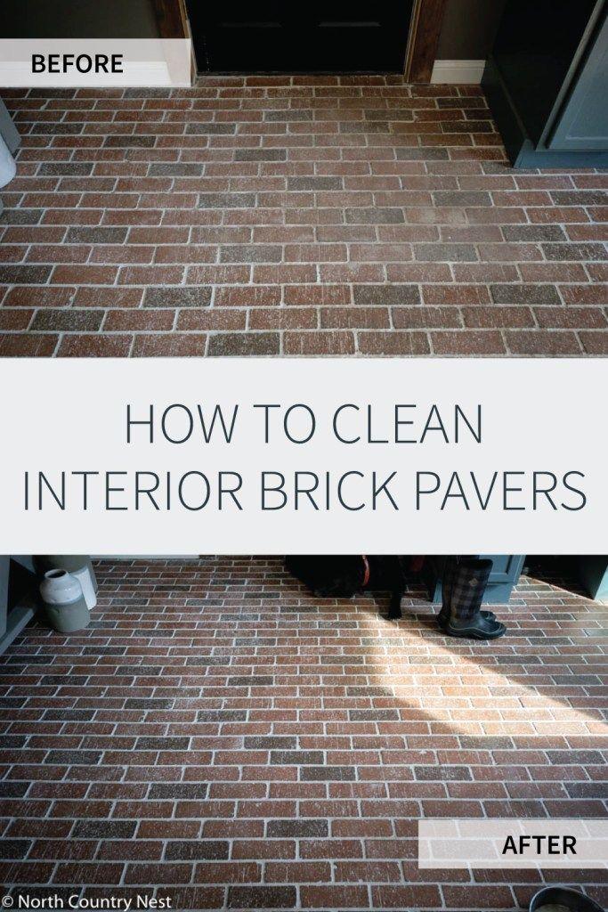 How To Clean Interior Brick Floors In 2020 Brick Flooring Flooring Brick Tile Floor