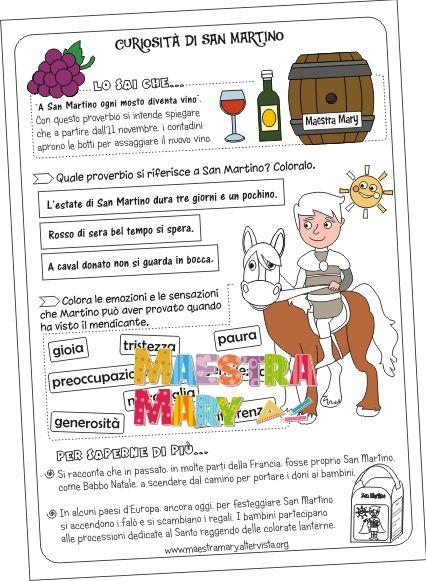 Schede Didattiche Di San Martino San Martino Pinterest