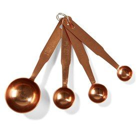 Copper Finish Measuring Spoons - Set of 4