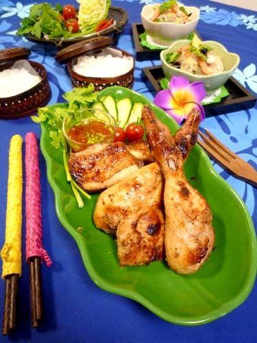 タイの鶏肉スパイス焼きガイヤーン&ヤムウンセン!! by ぱおさん ...