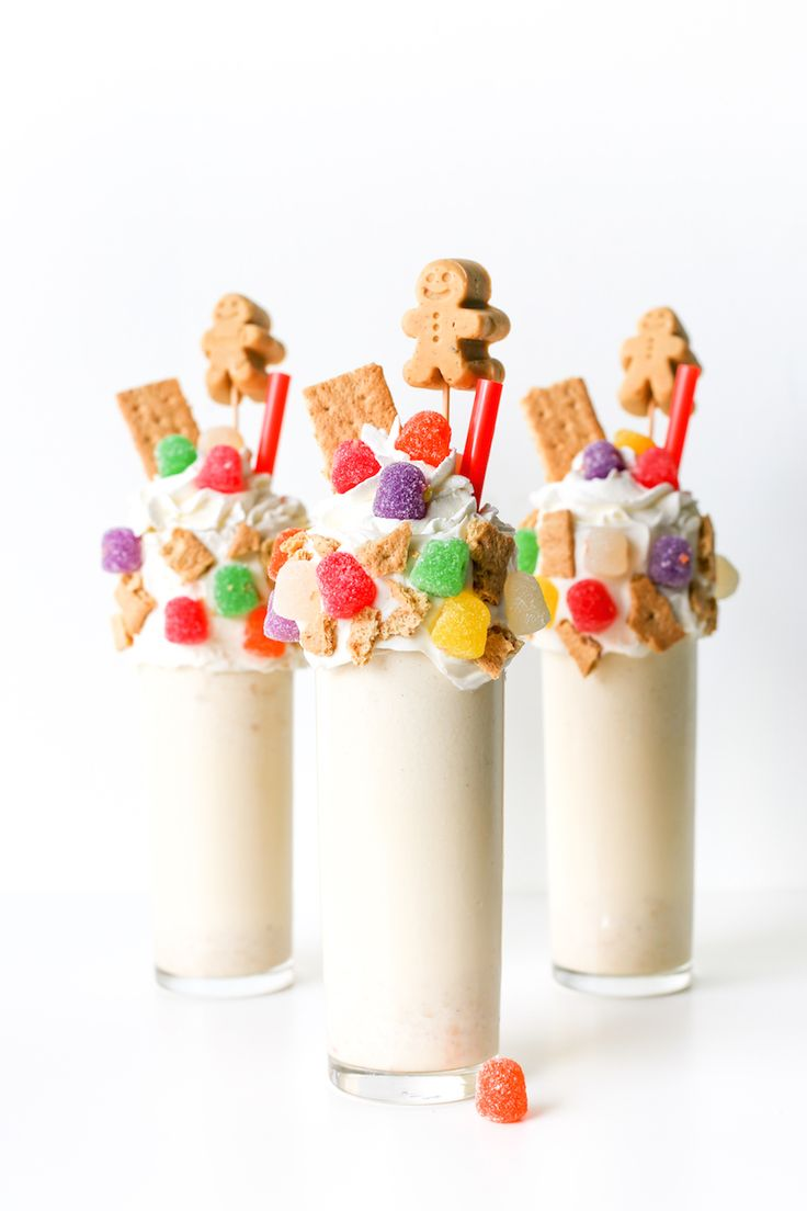 Boozy Bourbon Gingerbread House Milkshake