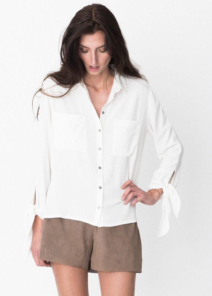 Storm & Marie Skjorte cremehvid 15013 Solange Shirt bright white – acorns