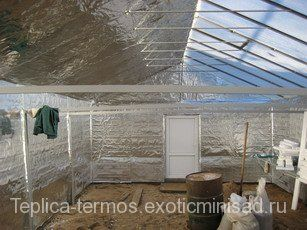 теплица термос отделка стен