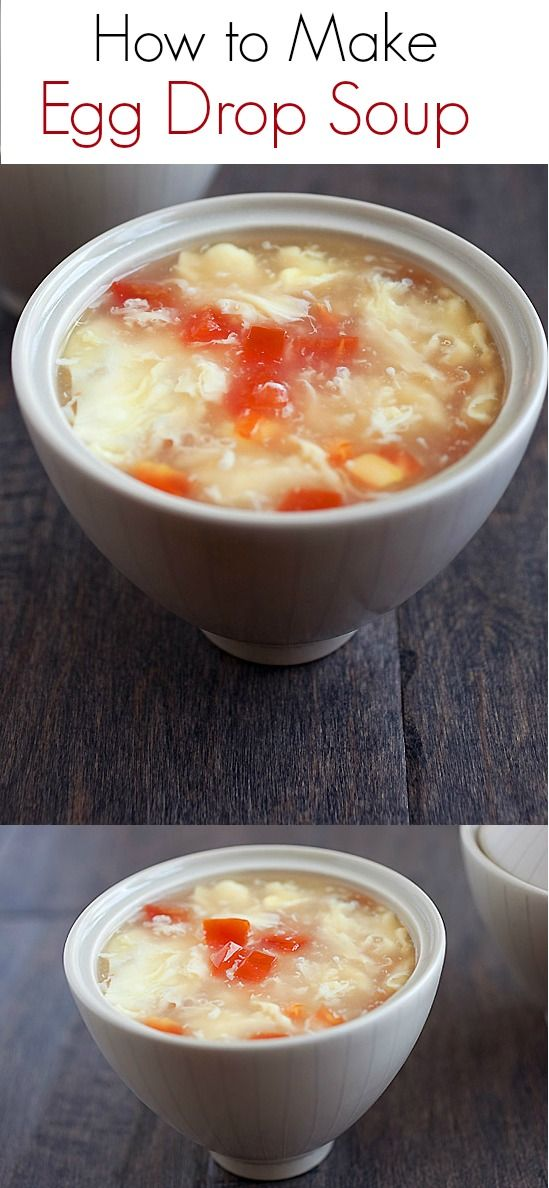 how to make egg drop soup with chicken broth