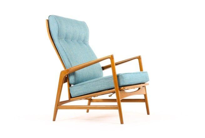 Ib Kofod Larsen Reclining Armchair for Selig - Mr. Bigglesworthy Designer Vintage Furniture Gallery