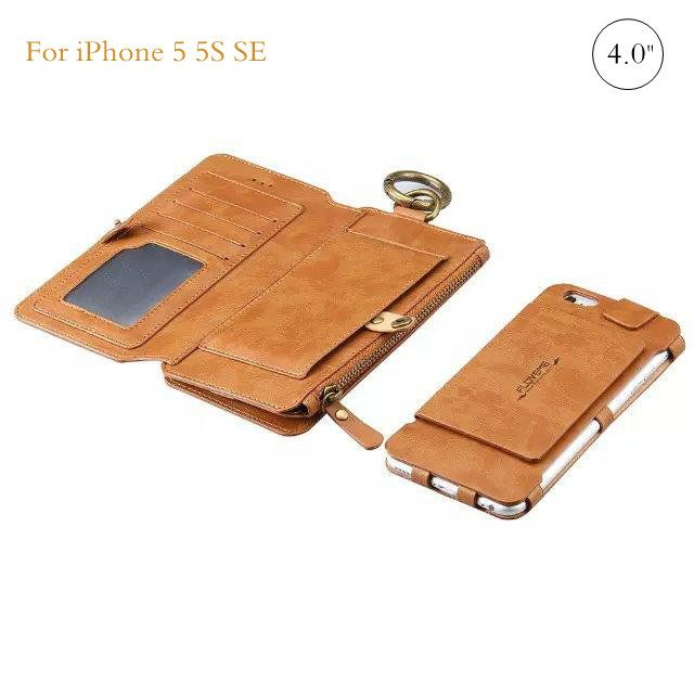 Multi Function Retro PU Leather Wallet Zipper Pocket Flip Kickstand Cover Case…