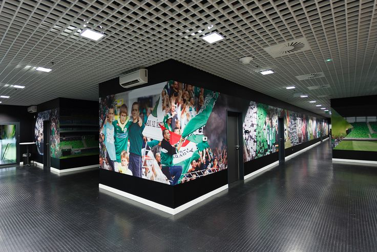FTC Football Stadium graphic design & interior design on Behance