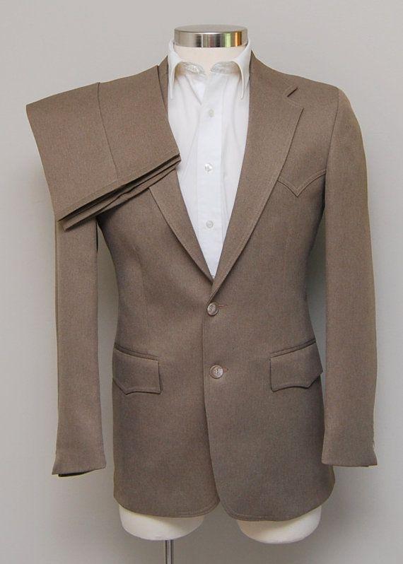 Vintage men's brown western suit/ Vint men's western suit/ Levi's