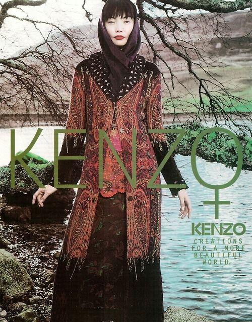 Irina Pantaeva for Kenzo Ad Campaign, 1997.