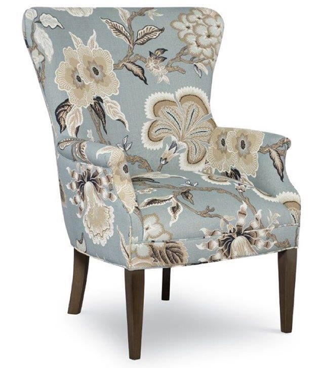 Hothouse Sky, a linen print designed by #CelerieKemble looks #SoChic on the #crlaine Mia #chair from our Fall 2015 collection unveiled during October's #HPMKT and now available at CR Laine #RetailPartners across the US. #MadeintheUSA #StyleComfortColor