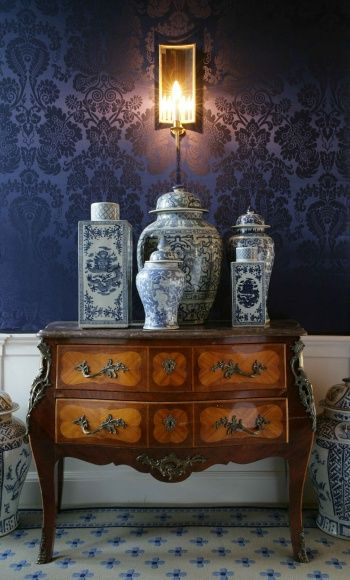 Historical Scottish Castle interior design.  love wall, floor and chest!  beautiful!