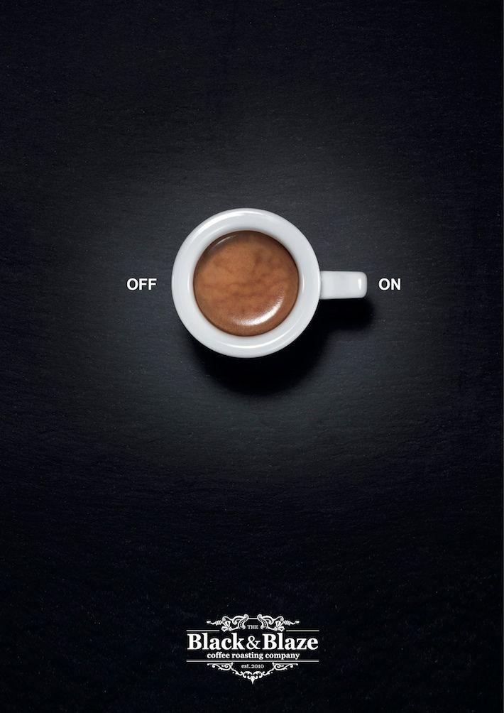 """""""Turn you on the max""""   Agence : Inhalt&Form Werbeagentur BSW, pour la marque de café Black&Blaze (2014)"""