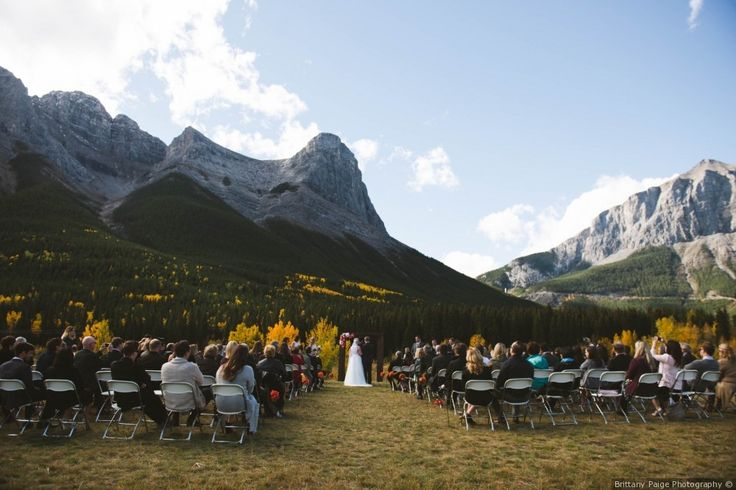 Mountside wedding ceremony | Jason and Katie's wedding in Canmore, Alberta | Photo by: BB Collective, Venue: Cornerstone Theatre & Restaurant