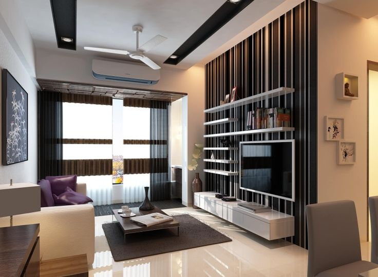 Attractive Modern Home Designed By RK Design Studio In Mumbai | Home Design |  Pinterest | Tv Wall Panel, Tv Walls And Apartments