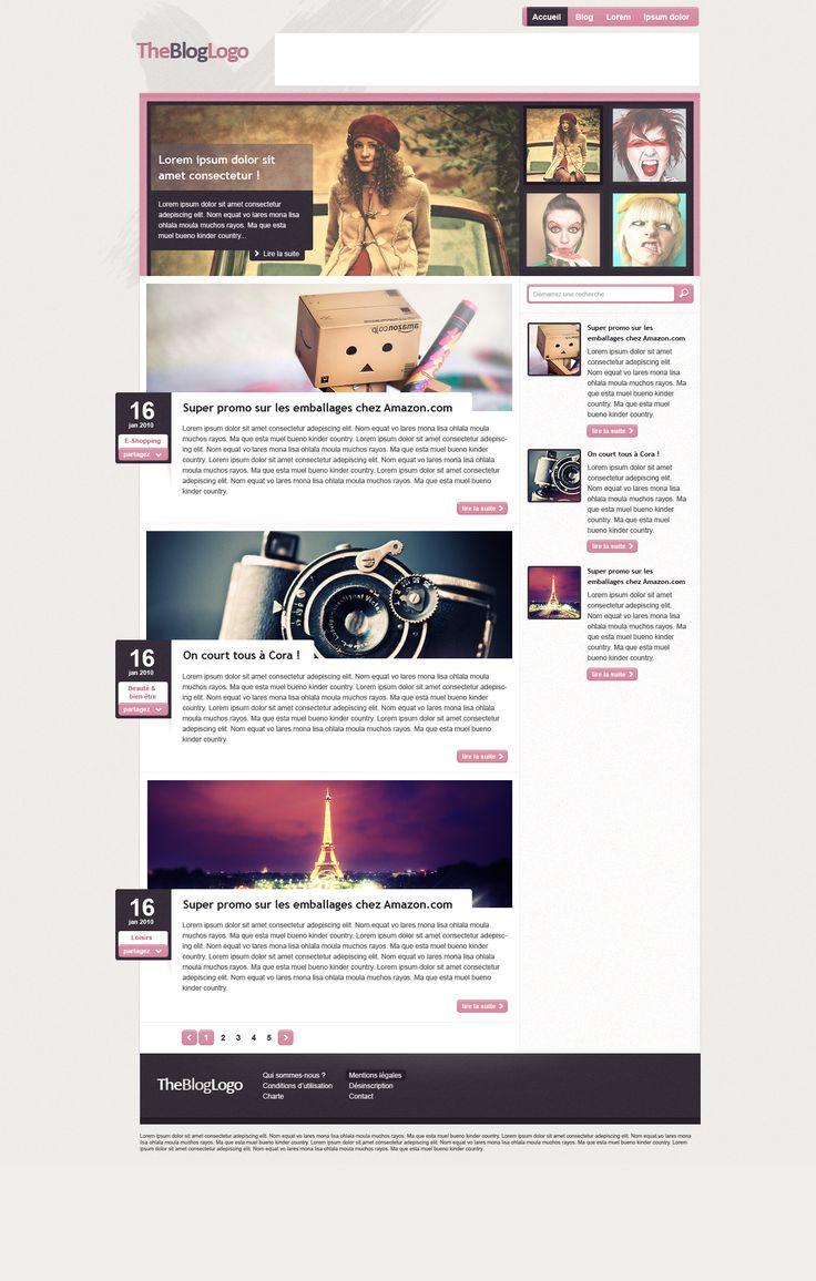 Blog design by mstarback on deviantart