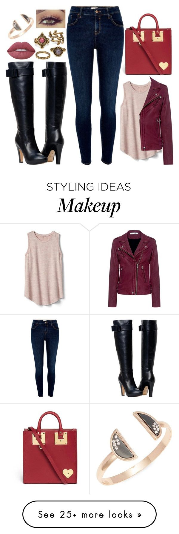 """""""Feel Alive"""" by puppydog28 on Polyvore featuring River Island, Gap, IRO, Sophie Hulme, Lime Crime and Design Lab"""