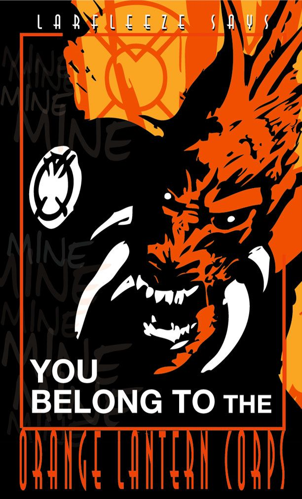 Orange Lantern Poster by Heartattackjack.deviantart.com on @deviantART