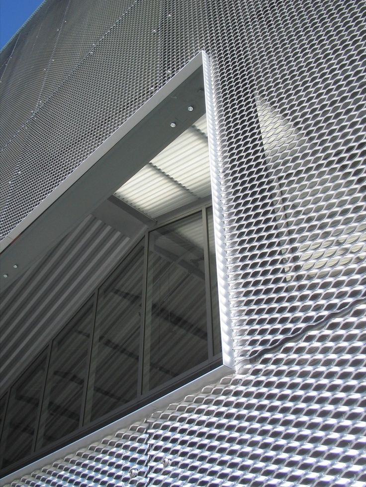 Exterior Screen Wall + Translucent Corrugated Roof