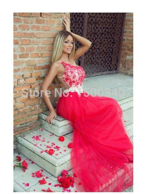 Дешевое Сексуальная красные кружевные платья выпускного вечера 2015 новое поступление элегантный совок шеи аппликации Большой размер длинное вечернее платье Vestido Formatura, Купить Качество Выпускные платья непосредственно из китайских фирмах-поставщиках: