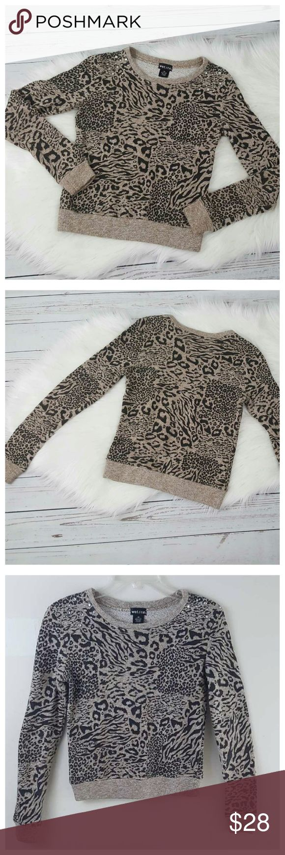 The 25 best animal print hoodies ideas on pinterest pink leopard animal print cozy sweatshirt top bling xs bankloansurffo Choice Image