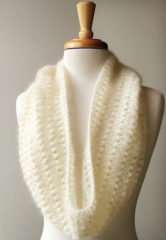 Wishing I could knit. Infinity Scarf Knitting Pattern  Fall Winter Fashion by AtelierTPK, $6.50