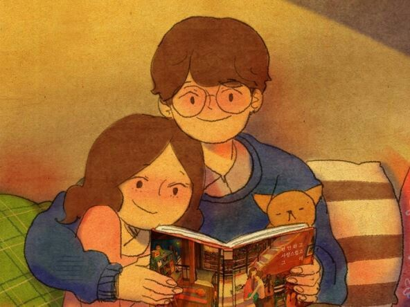 Read books with you & kitty