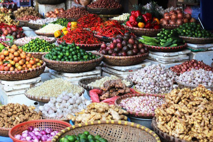 Vietnam, Market, Hanoi, Asia, vegetebles