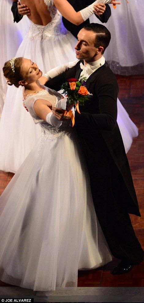 Viennese waltz dance wedding dresses