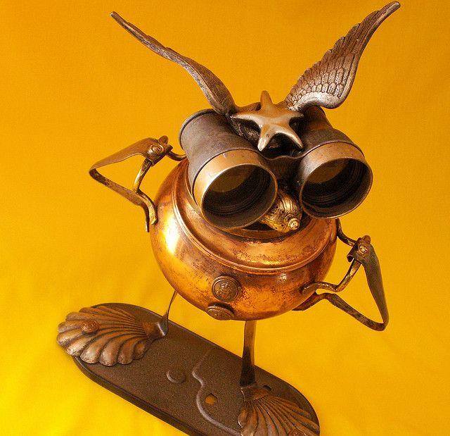 robot assemblage sculpture * STARBIRD - The Intergalactic Highway Patrol Steampunk Jewelry BoxRobot | Flickr - Photo Sharing!