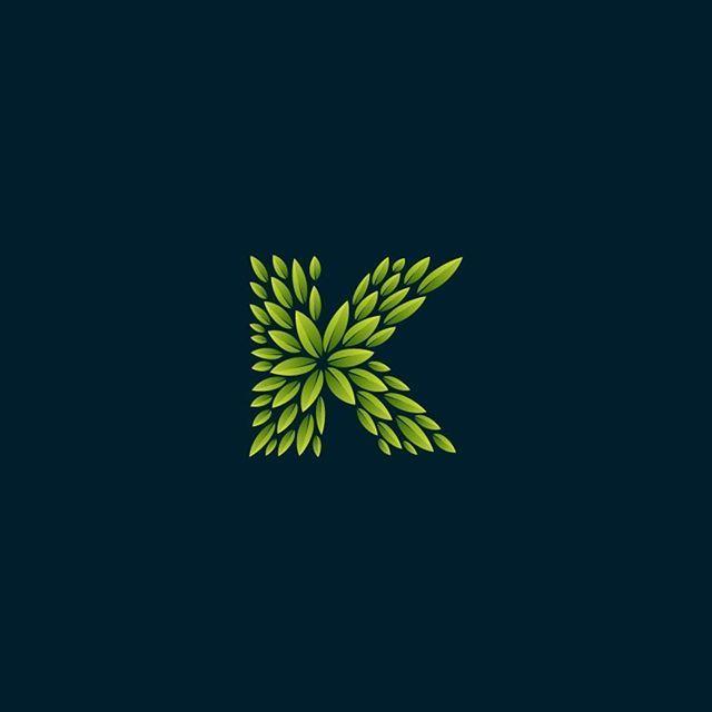Logo inspiration:  Green K by Roma Korolev @roma  Hire quality logo and branding designers at Twine. Twine can help you get a logo, logo design, logo designer, graphic design, graphic designer, emblem, startup logo, business logo, company logo, branding, branding designer, branding identity, design inspiration, brandinginspiration and more.