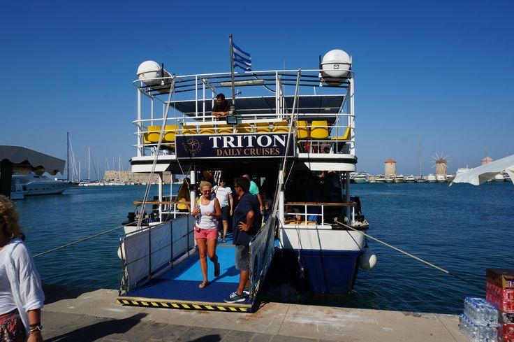 #Triton daily #cruises #boat in #Mandraki #Harbour #Mediterranean #Sea #Rhodes #Island #Greece