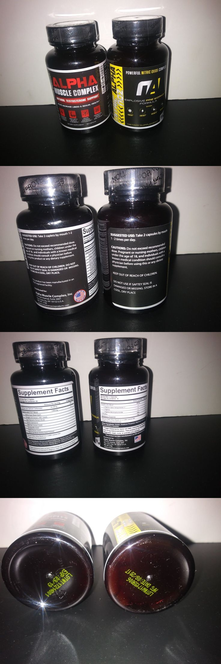 Sports Vitamins and Minerals: Alpha Muscle Complex Testosterone Boost + Nitric Alpha No2 Nitric Oxide Formula -> BUY IT NOW ONLY: $57 on eBay!