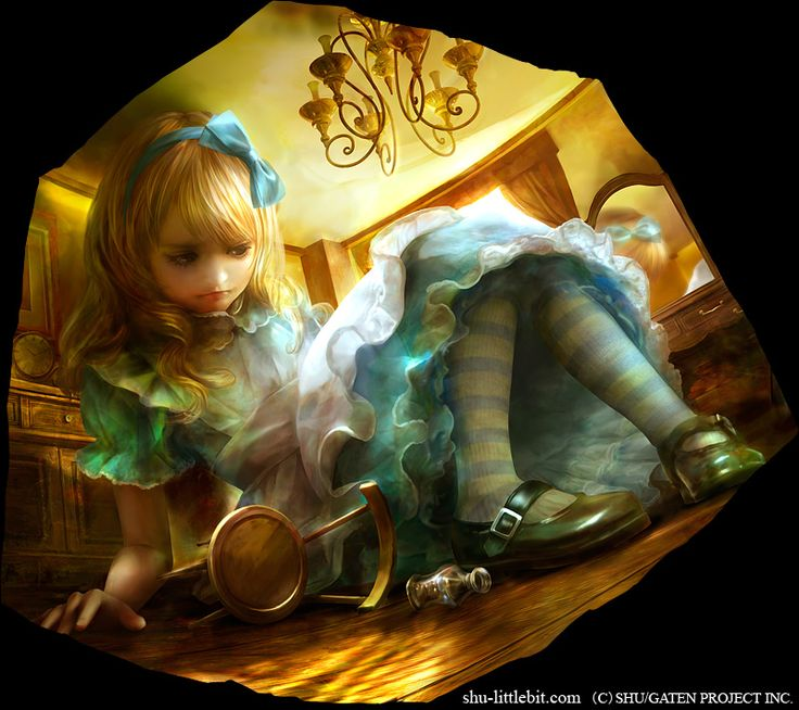Alice in rabbit room - by Shuichi Mizoguchi. He was born on 1972 in Hiroshima. He developed his talent for original art while working as graphic artist for a game company.